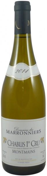 """Вино Domaine des Marronniers, Chablis Premier Cru """"Montmains"""" AOC, 2014"""