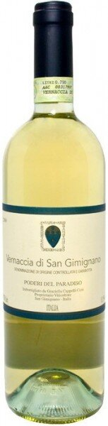 Вино Poderi del Paradiso, Vernaccia di San Gimignano, Toscana DOCG, 2015