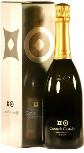Игристое вино Contadi Castaldi, Franciacorta Brut DOCG, gift box