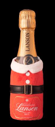 """Шампанское Lanson, """"Black Label"""" Brut in pouch Santa Claus, 0.2 л"""