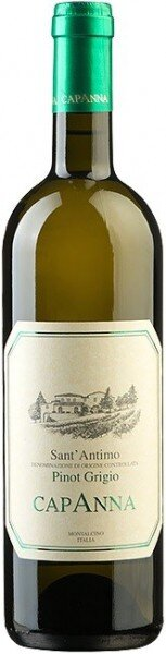 Вино Capanna, Pinot Grigio, Sant' Antimo DOC, 2014