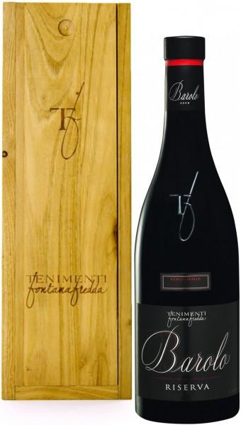 Вино Fontanafredda, Barolo DOCG Riserva, 2000, wooden box