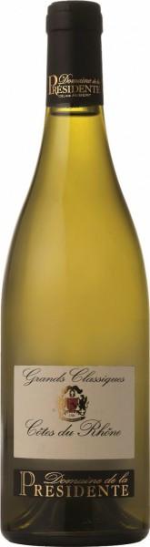 """Вино Domaine de la Presidente, """"Grands Classique"""" Blanc, Cotes du Rhone AOC, 2014"""