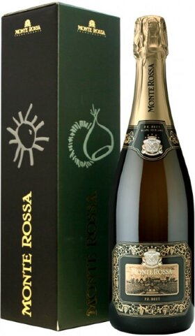 "Игристое вино Monte Rossa, ""P.R."" Blanc de Blancs Brut, gift box"
