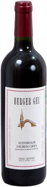 "Вино Niedrist, ""Berger Gei"", Lagrein Gries DOC, 2011"