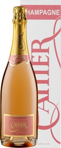 "Шампанское Cattier, ""Glamour"" Rose, Champagne AOC, gift box"