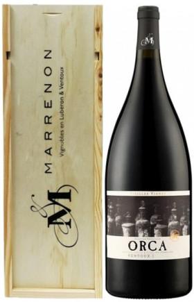 """Вино Marrenon, """"Orca"""" Vieilles Vignes, Cotes du Ventoux AOC, 2014, wooden box, 1.5 л"""
