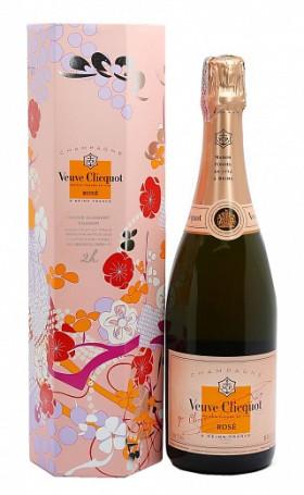 Шампанское Veuve Clicquot Brut Rose Shakkei gift box 0.75л