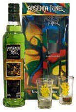 """Абсент """"Tunel"""" Green, gift box with 2 glasses, 0.35 л"""