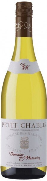 Вино Domaine des Malandes, Petit Chablis AOC, 2015