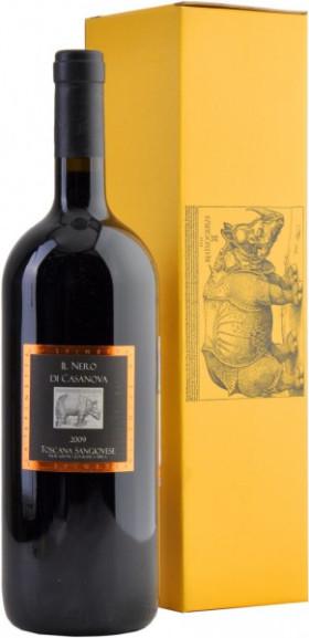 """Вино La Spinetta, Sangiovese """"Il Nero Di Casanova"""", Toscana IGT, 2009, gift box, 1.5 л"""