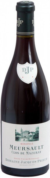 """Вино Domaine Jacques Prieur, Meursault """"Clos de Mazeray"""" Rouge, 2009"""