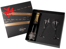 Шампанское Lanson Black Label Brut (with two glasses)