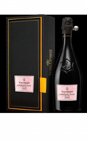 Шампанское Veuve Clicquot La Grande Rose 2004 gift box 0.75л