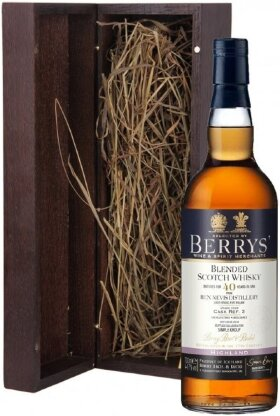 Виски Berrys, Ben Nevis 40 Years Old, wooden box, 0.7 л