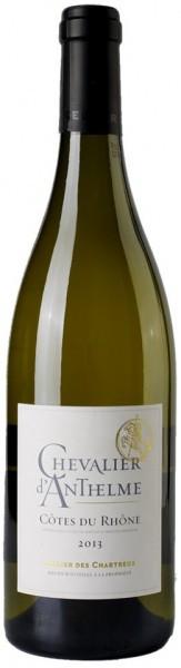 """Вино Cellier des Chartreux, """"Chevalier d'Anthelme"""" Blanc, Cotes du Rhone AOP, 2013"""