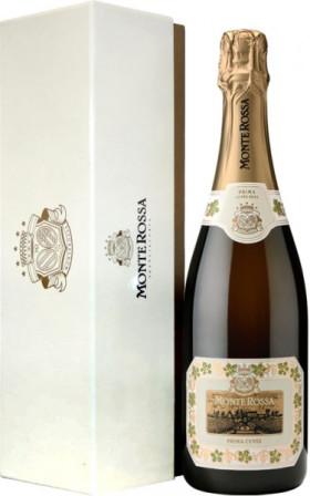 "Игристое вино Monte Rossa, ""Prima Cuvee"" Brut, gift box ""Premium"""