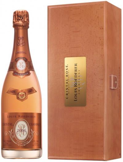 "Шампанское ""Cristal"" Rose AOC, 2006, in wooden box, 3 л"