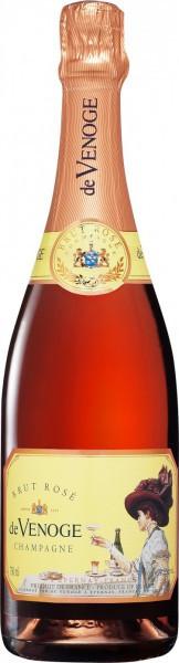 """Шампанское Champagne de Venoge, """"Brut Rose"""", Champagne AOC"""