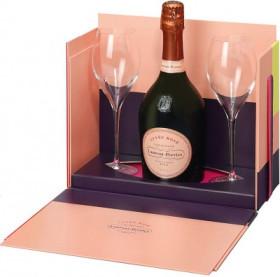 Шампанское Laurent-Perrier, Cuvee Rose Brut, gift box with 2 glasses