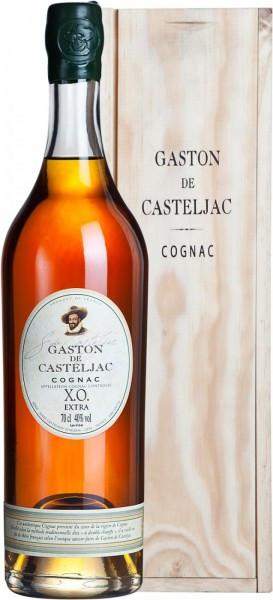 """Коньяк """"Gaston de Casteljac"""" XO Extra, Cognac AOC, wooden box, 0.7 л"""