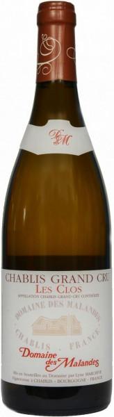 "Вино Domaine des Malandes, Chablis Grand Cru ""Les Clos"" AOC, 2015"