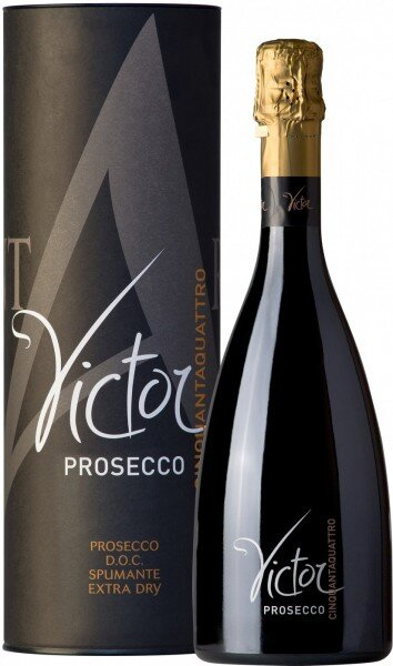 "Игристое вино Contarini, Prosecco ""Victor"" White Extra Dry DOC, gift box"