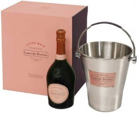 Шампанское Laurent-Perrier, Cuvee Rose Brut, gift box with ice bucket