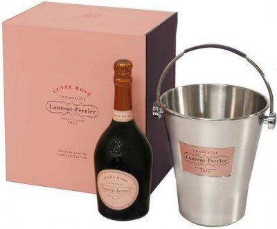 Шампанское Laurent-Perrier, Cuvee Rose Brut, gift box with ice bucket