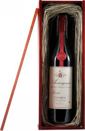"Арманьяк ""Castarede"" Armagnac AOC, 1990, wooden box, 0.7 л"