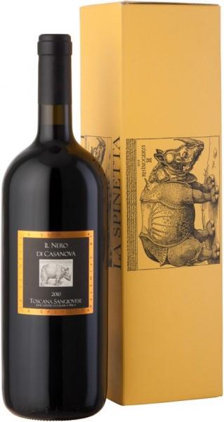 """Вино La Spinetta, Sangiovese """"Il Nero Di Casanova"""", Toscana IGT, 2010, gift box, 1.5 л"""