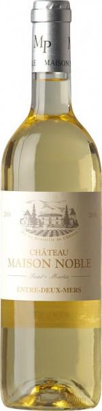 """Вино Chateau Maison Noble, Cuvee """"Saint-Martin"""" Blanc, Entre-Deux-Mere AOC 2010"""