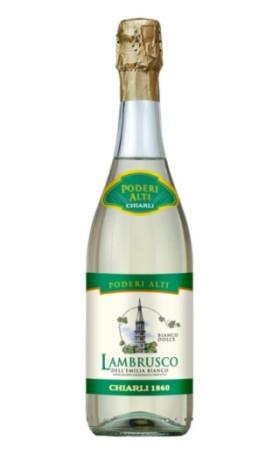 Ламбруско Chiarli-1860 Lambrusco dellEmilia bianco IGT Poderi Alti 0.75л
