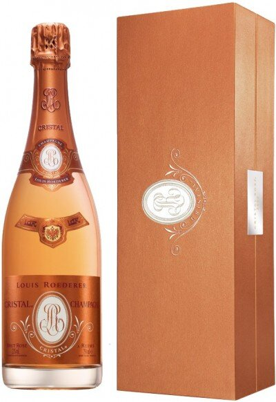 "Шампанское ""Cristal"" Rose AOC, 2008, in gift box"