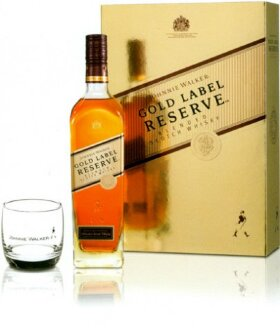 "Виски ""Gold Label"" Reserve, gift box with 2 glasses, 0.7 л"