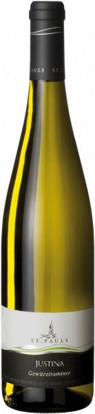 "Вино St. Pauls, ""Justina"" Gewurztraminer, Alto Adige DOC, 2015"