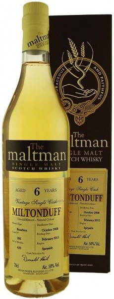 "Виски ""The Maltman"" Miltonduff 6 Years Old, gift box, 0.7 л"