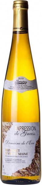 """Вино Domaine de l'Ecu, """"Expression de Gneiss"""" Muscadet Sevre et Maine AOC, 2010"""