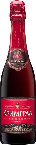 "Игристое вино ""Krimgrad"" red semi-sweet"