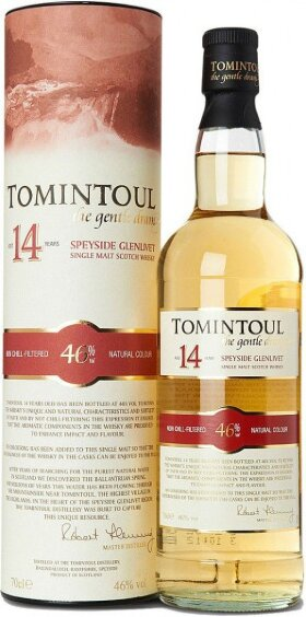 """Виски """"Tomintoul"""" 14 Years Old, gift tube, 0.7 л"""