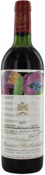 Вино Chateau Mouton Rothschild, Pauillac AOC Premier Grand Cru Classe, 1975, 1.5 л