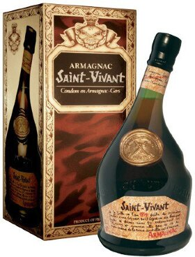 Арманьяк Saint-Vivant, Armagnac VS, gift box, 0.7 л