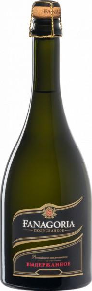 "Игристое вино ""Fanagoria"" Blanc Semi-Sweet Aged"