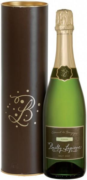 "Игристое вино Cave de Bailly, Bailly-Lapierre ""Egarade"" Brut, Cremant De Bourgogne AOC, 2007, gift box"