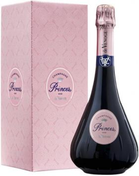 "Шампанское Champagne de Venoge, ""Princes"" Rose, Champagne AOC, gift box"