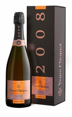Шампанское Veuve Clicquot Vintage Rose 2008 gift box 0.75л