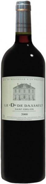 "Вино Chateau Dassault, Le ""D"" de Dassault, Saint-Emilion Grand Cru AOC, 2000"