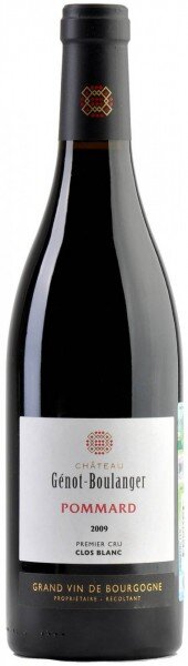 "Вино Chateau Genot-Boulanger, Pommard Premier Cru ""Clos Blanc"", 2009"