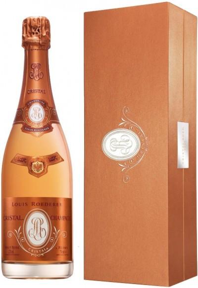 """Шампанское """"Cristal"""" Rose AOC, 2009, gift box"""