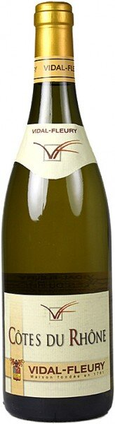 Вино Vidal-Fleury, Cotes du Rhone Blanc, 2014